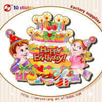 Wholesale cute stickers 3d wallpapers birthday party supplies indian birthday decorations L