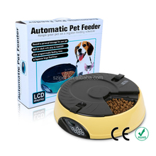 Best 6 Meal Smart Personalized Rotary Electronic Automatic Dog Feeder and Bowl PF02