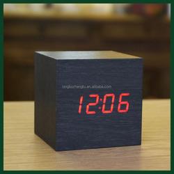 Hot sale wooden MDF+PVC led table antique clock