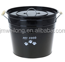 full color printing metal storage bucket for pet food