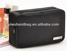 fashion simple black mens travel toiletry bag