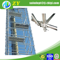 Q235 ring lock walk through scaffolding frames