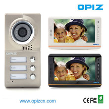 video intercom with door release for 3 family house,outdoor camerea with stainless panel/can take picture and video record