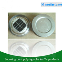 Tempered glass solar road marker flashing traffic light