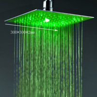 12 inches stainless steel ultra thin 2mm hot and cold shower head