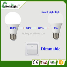 Aluminum Thermal plastic mixed body smd2835 270 degree 270LM E27 E26 B22 E12 6 watt dimmable led bulb