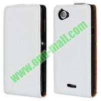 Up and Down Smooth Texture Leather flip case for sony xperia l s36h c2105