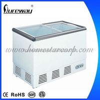 68Litres Solar energy mini deep chest freezer / commercial refrigerator fridge