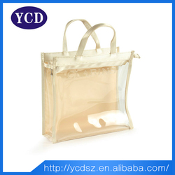 Hot new products 2015 factory cheap clear handbags