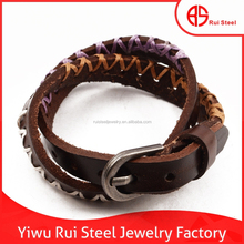 2015 hot selling leather buckle bracelet designed by italian jewelry designer