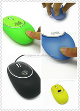 Customised promotional mini silicone computer mouse wholesale used as best gift for business partner
