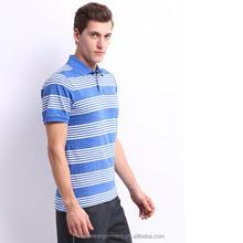 Wholesale cheap blue and white stripe polo shirt