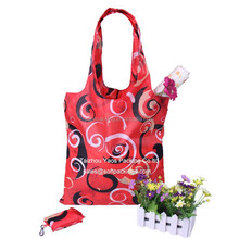 new design polyester foldable reusable shopping bag, promotional shopping tote bag, reusable grocery bag cheap