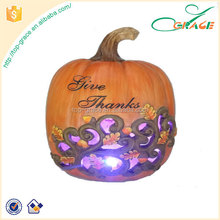 harvest festival resin craft wholesale artificial pumpkins with led