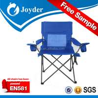 high back folding holiday relaxing iron fabric camping chair