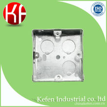 pre galvanized steel electrical 3x3 metal junction box