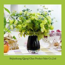 Art geometry shape Wine red, purple glass vase
