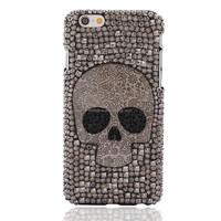 Bling Bling Luxury Skull Case For iPhone 6 Diamond Cover,Handmade Rhinestone Case For iPhone 6 4.7inch