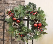 chinese red berry decorative wholesale christmas decorations