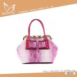 lastest fshion western style New Arrival snake skin tote bag from handbag manufacturer