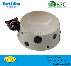 Alibaba China supplier home decor new products personalized pet dog water food bowl ceramic bowls with handles