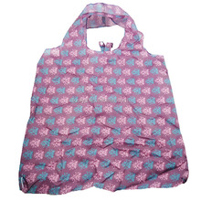 New 190T polyester reusable foldable shopping bag