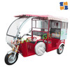2015 new best seller hot three wheel electric battery rickshaw tricycle with drum brake, h-power tricycle