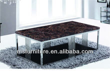 stainless steel frame and marble top 2015 coffee table new designs