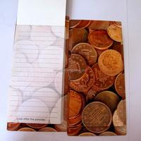 Customized design cheap paper note book / fridge magnetic memo pad office memo sample