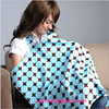 China wholesale light weight maternity tools colored cotton printed Breastfeeding udder covers knit scarf for easy use