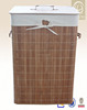 2015 home essential Bamboo folding Laundry hamper with the lid and lining