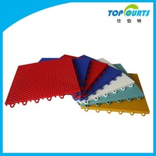 Outdoor sports plastic flooring system for basketball