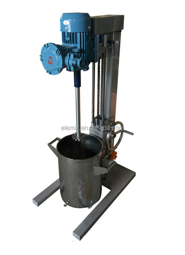 manual lifting high speed disperser for chemical mixer