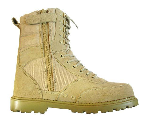 neues design hohe qualität der sicherheit beige militär desert boots mit seitlichem reißverschluss