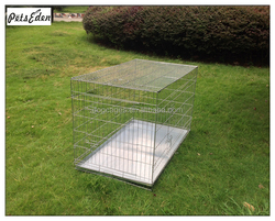 Wholesale Cheap Iron Cage Silver Galvanized Dog Crate