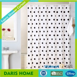 2015 new polyester printed dot design shower curtain, polyester shower curtain, printed shower curtain