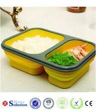 hot new products for 2015 silicone lunch box china wholesale plastic dinnerware