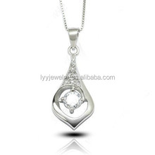 baby girl pendant drop water shaped jewelry 925 silver