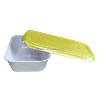 Smooth wall aluminum foil container