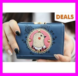 Hot!!! 25-50% price off nice design fashion pu leather cute girls clutch wallets wholesale HD2498
