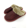 Genuine cow leather TPR winter man slipper plush slipper