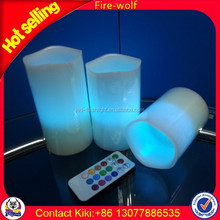 Wholesale LED Flash Flameless Moving Wick LED Candle With Timer LED Wax Candle Light With Remote Control Manufacturer