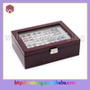 red soil color matte painting wooden cufflink box WH-0314-1 for wholesale