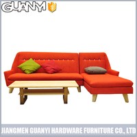 2015 fresh color cheap modern new design corner sofa