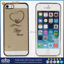 GGIT Heart Shape Diamond Phone Case For iPhone 5S