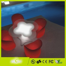 Home Garden Waterproof Lighting Portable Tables and Chairs