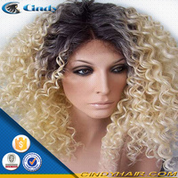 high density premium quality no tangle no shedding part anywhere beyonce golden blonde italian curl human hair lace wigs