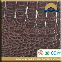 Crocodile skin embossed pvc leather for sofa car seat