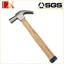 Wooden handle claw hammer made in China