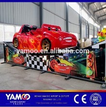 New Amusement Track Rides Rotating Speed Rides Mini Flying Car / Electric Rally Car for Children